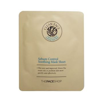 Picture of CLEAN FACE SEBUM CONTROL SOOTHING MASK SHEET