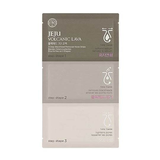 Picture of JEJU VOLCANIC LAVA 3-STEP BLACKHEAD REMOVER NOSE STRIPS