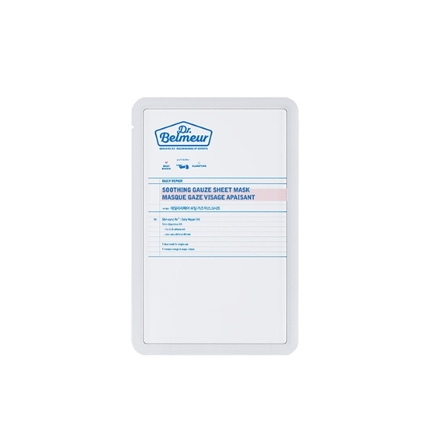 Picture of DR.BELMEUR DAILY REPAIR SOOTHING GAUZE SHEET MASK