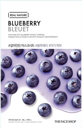 Picture of REAL NATURE MASK SHEET BLUEBERRY