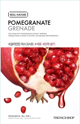 Picture of REAL NATURE MASK SHEET POMEGRANATE