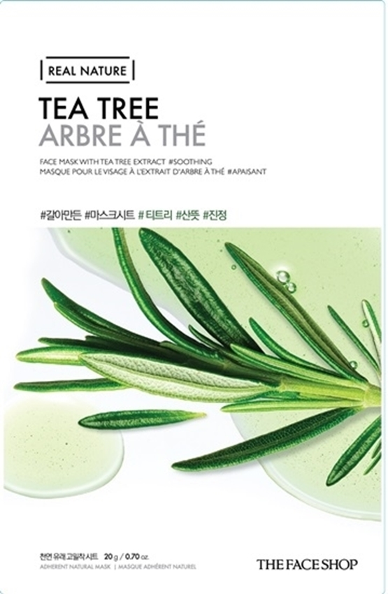 Picture of REAL NATURE MASK SHEET TEA TREE