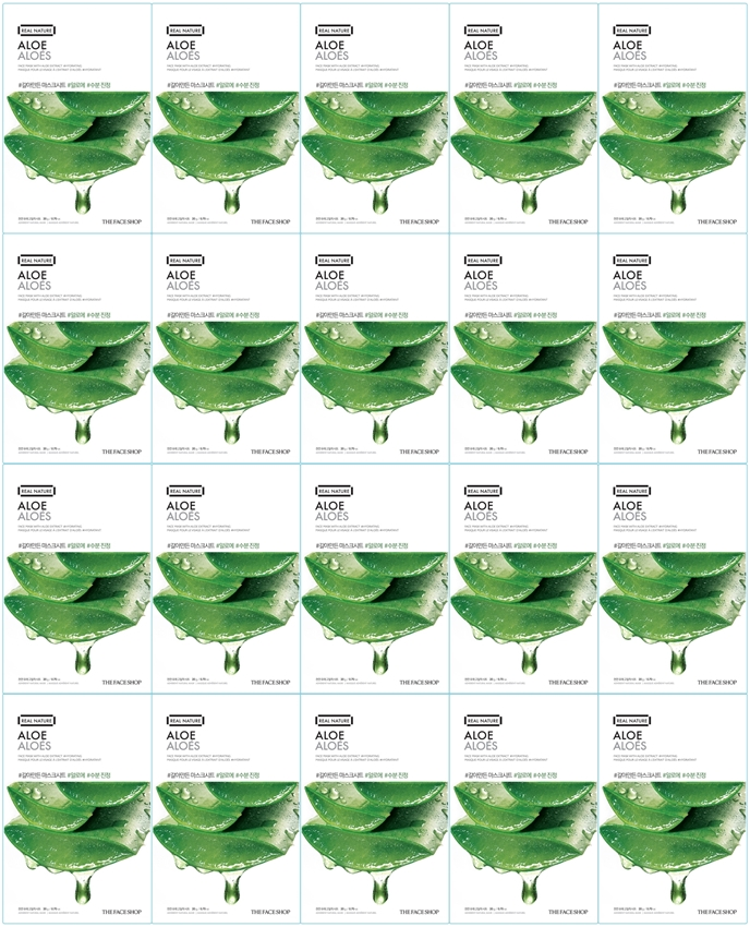 Picture of REAL NATURE FACE MASK ALOE (20PCS)