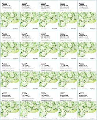 Picture of REAL NATURE FACE MASK CUCUMBER (20PCS)
