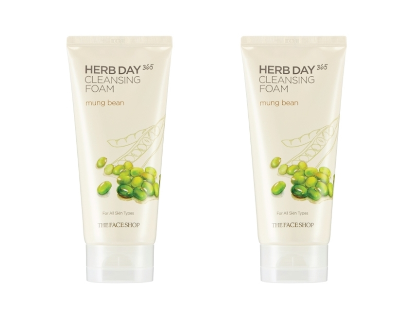 Picture of HERB DAY 365 CLEANSING FOAM MUNG BEANS LOT (2)
