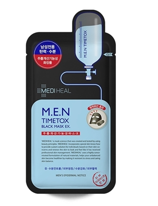 Picture of MEDIHEAL M.E.N TIMETOX BLACK MASK EX. 10PCS