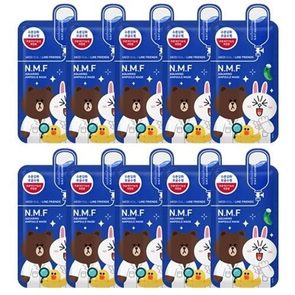 Picture of Mediheal Line Friends N.M.F Aquaring Ampoule Mask 10 Pieces
