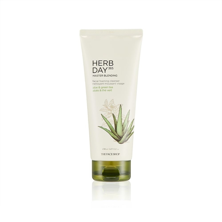 Picture of HERB DAY 365 MASTER BLENDING FACIAL FOAMING  CLEANSER ALOE &GREEN TEA